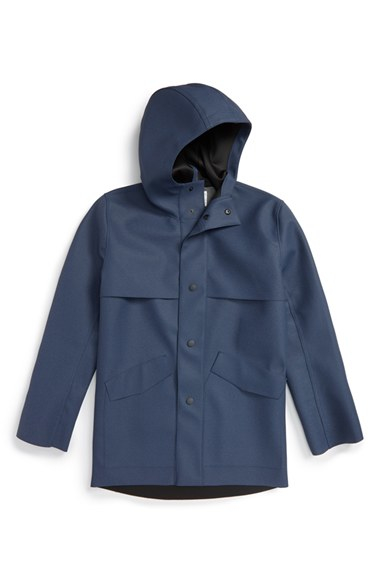 Patrik ervell Waterproof Rain Duffle Coat in Blue for Men | Lyst