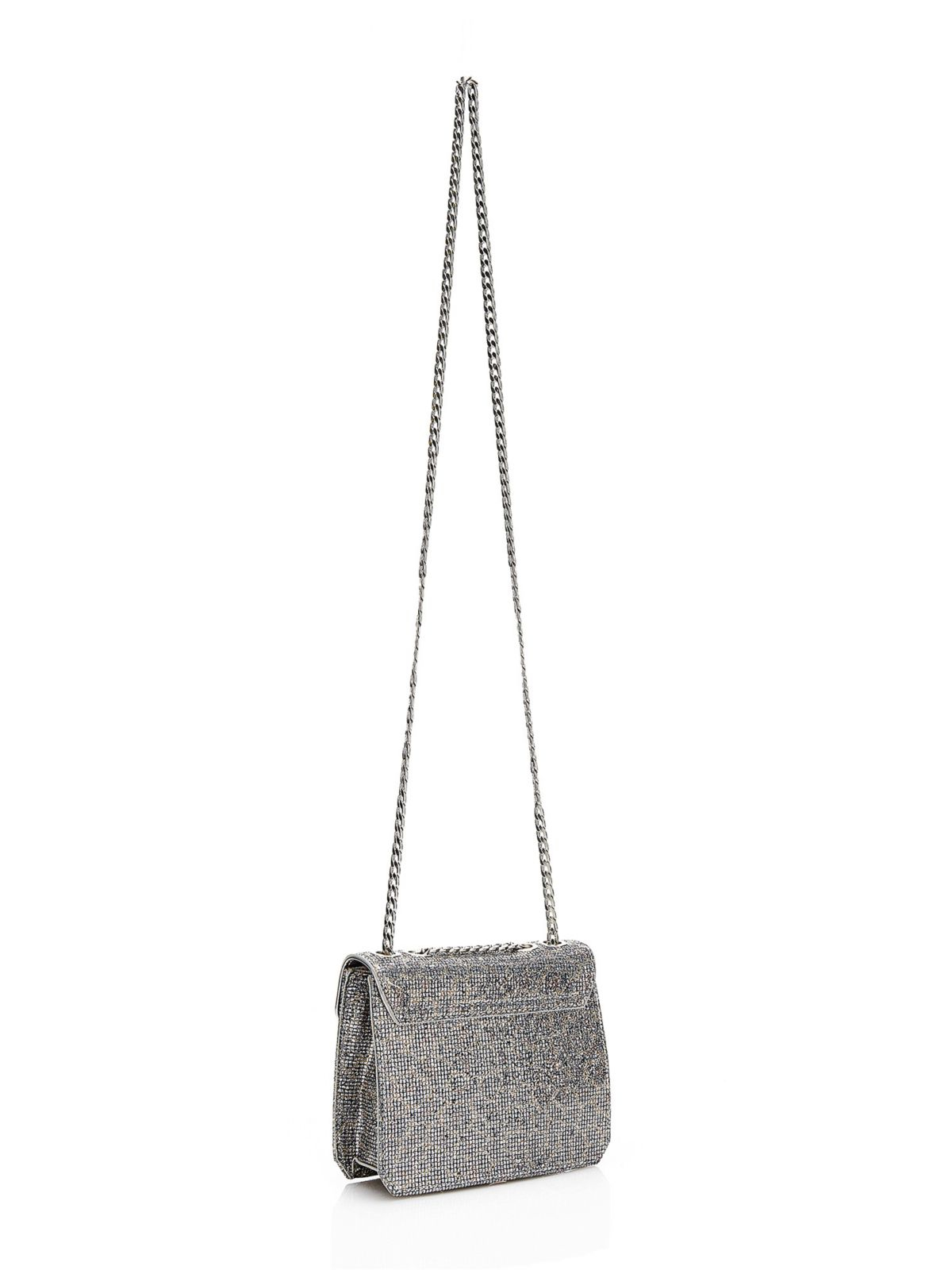 Guess Famous Crossbody Bag With Python Print in Silver (animalier ...
