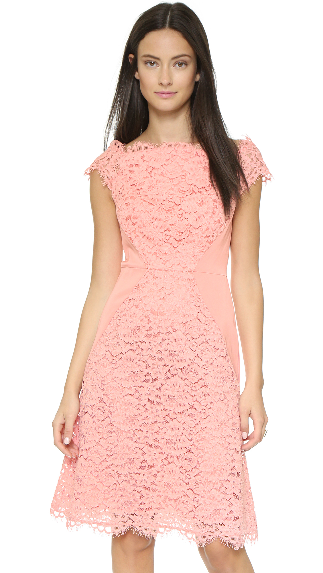 Shoshanna Marcela Dress - Peach in Pink   Lyst