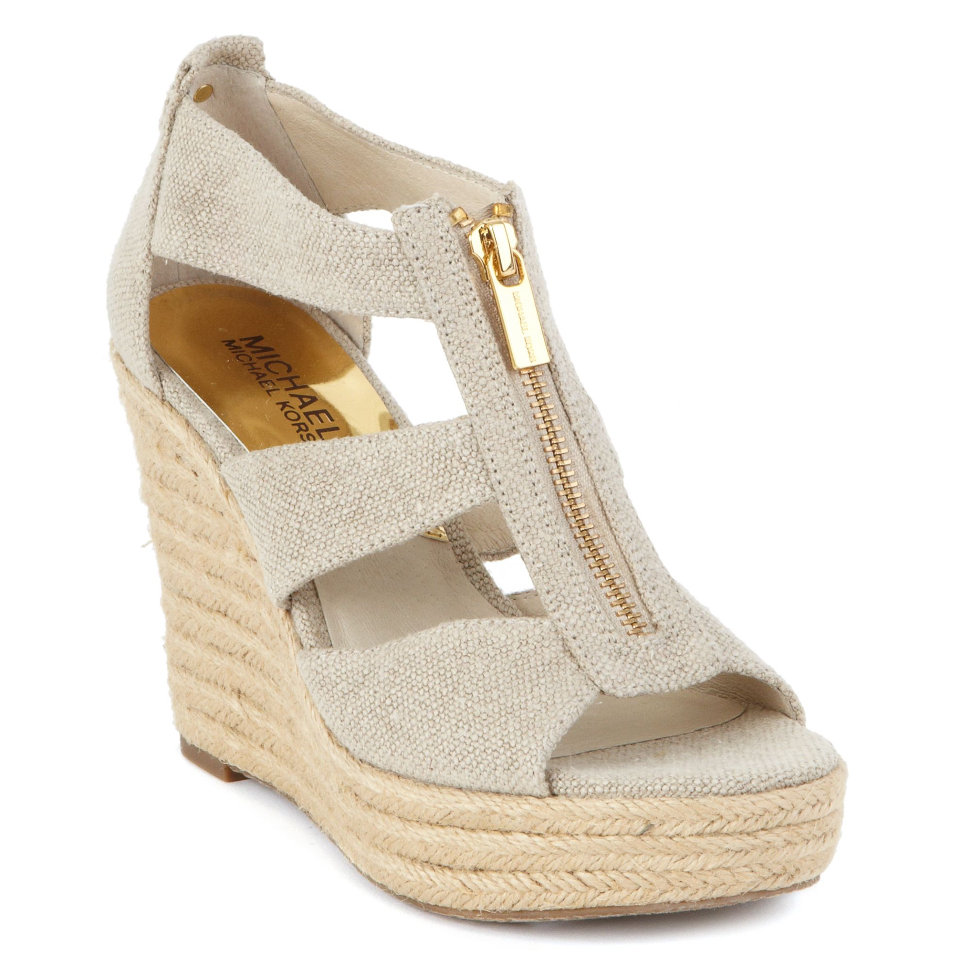 michael kors michael damita platform wedge sandals in