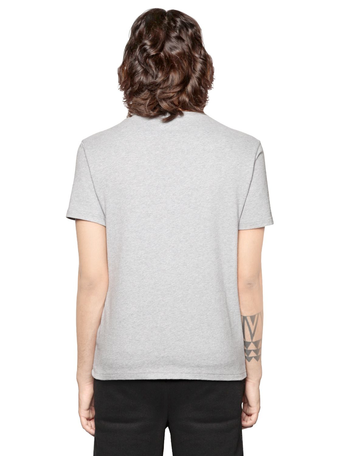Palm Angels Los Angeles Print Cotton Jersey T Shirt In