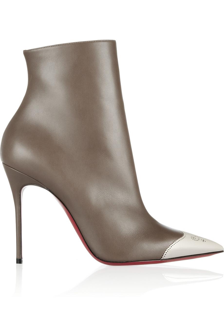 Christian Louboutin Women's Eloise Almond Toe Bootie Bo395G