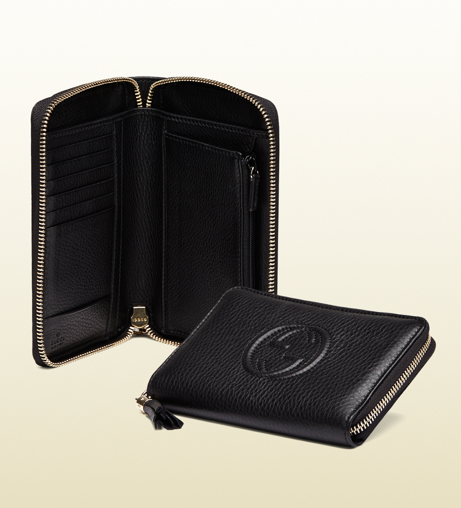 06efd0370503 Gucci Black Soho Zip Around Wallet | Stanford Center for Opportunity ...