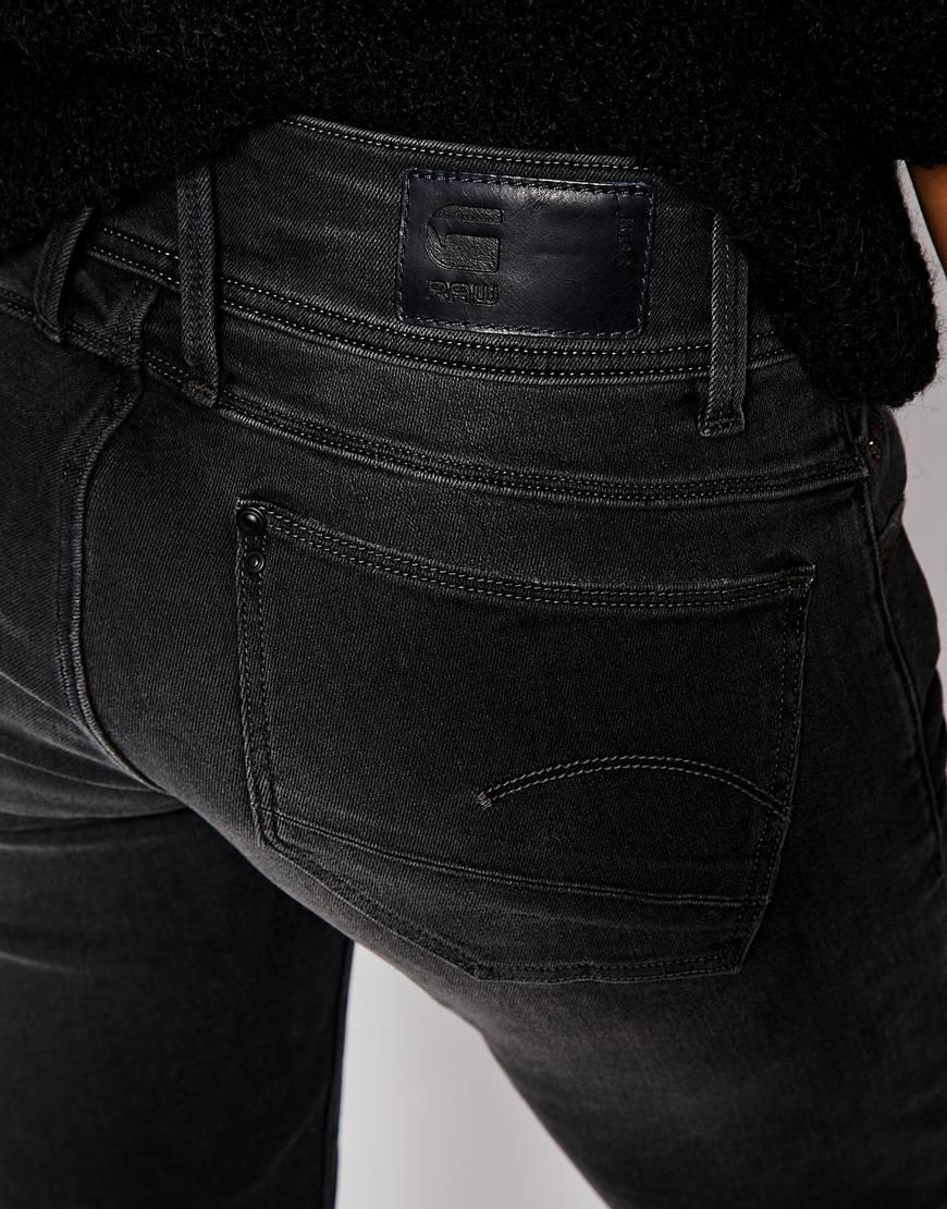 g star raw g star lynn skinny jeans in blue lyst. Black Bedroom Furniture Sets. Home Design Ideas