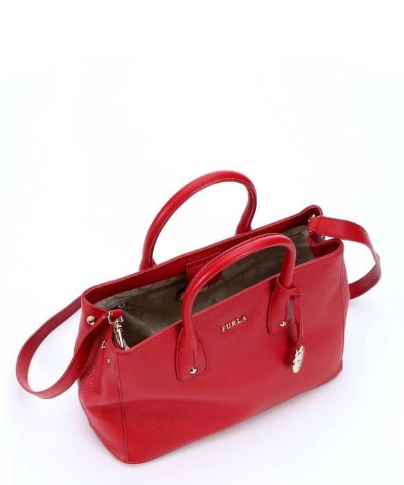 Furla Cabernet Leather 'Serena' Small Tote Bag in Red   Lyst