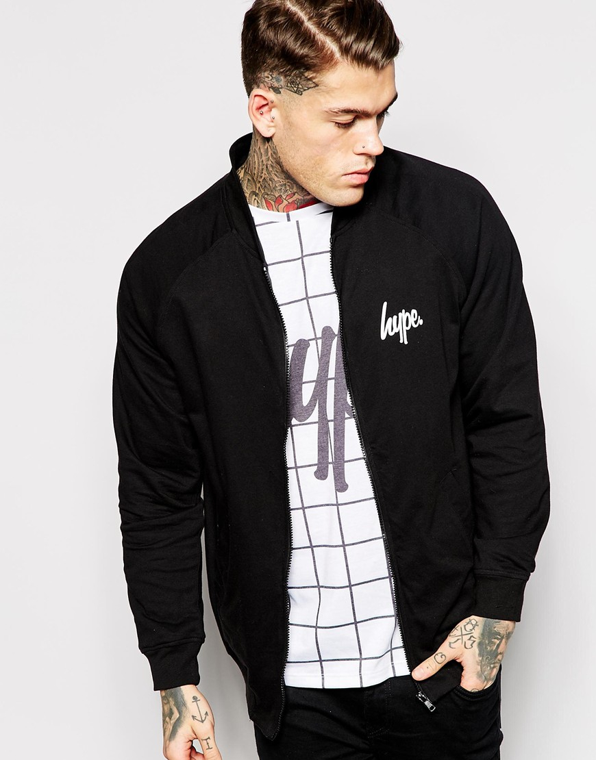 Hype Bomber Jacket in Black for Men | Lyst