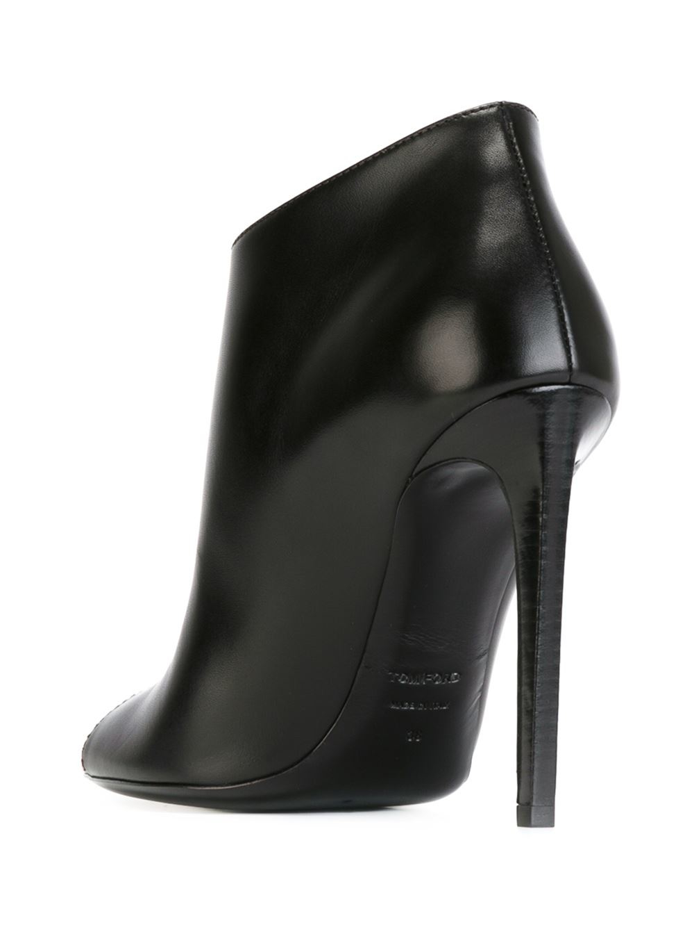 reliable online Tom Ford Leather Embellished Ankle Boots sale cheap lyCRXNh2On