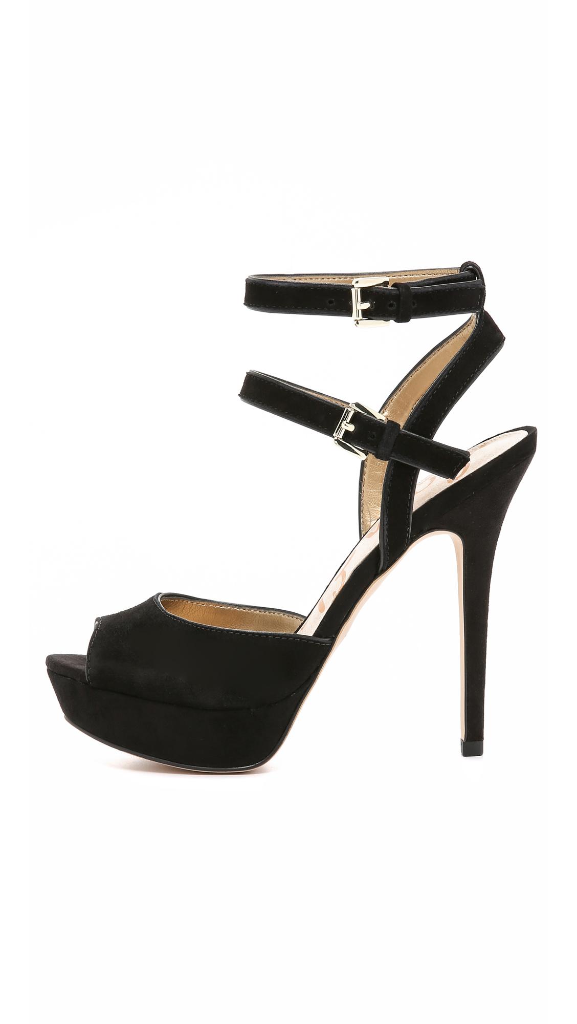 cc7220ae80e9fe Lyst - Sam Edelman Nadine Suede Platform Sandals - Black in Black