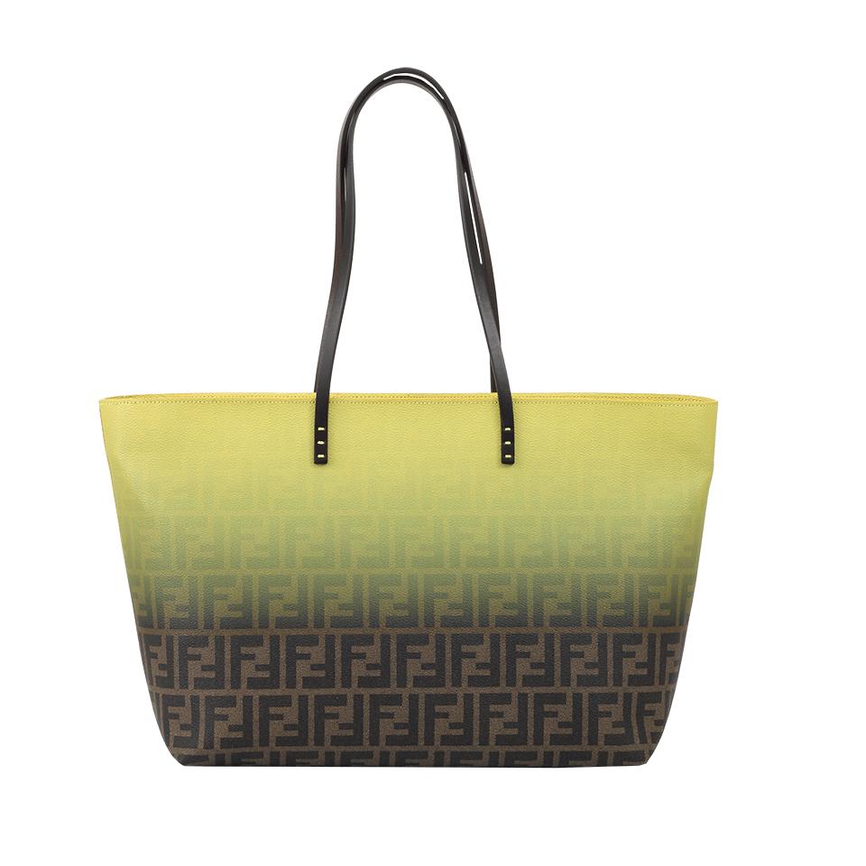 35ad6d80d2 ... shopping lyst fendi roll shopping bag in green 578dd 7e83e