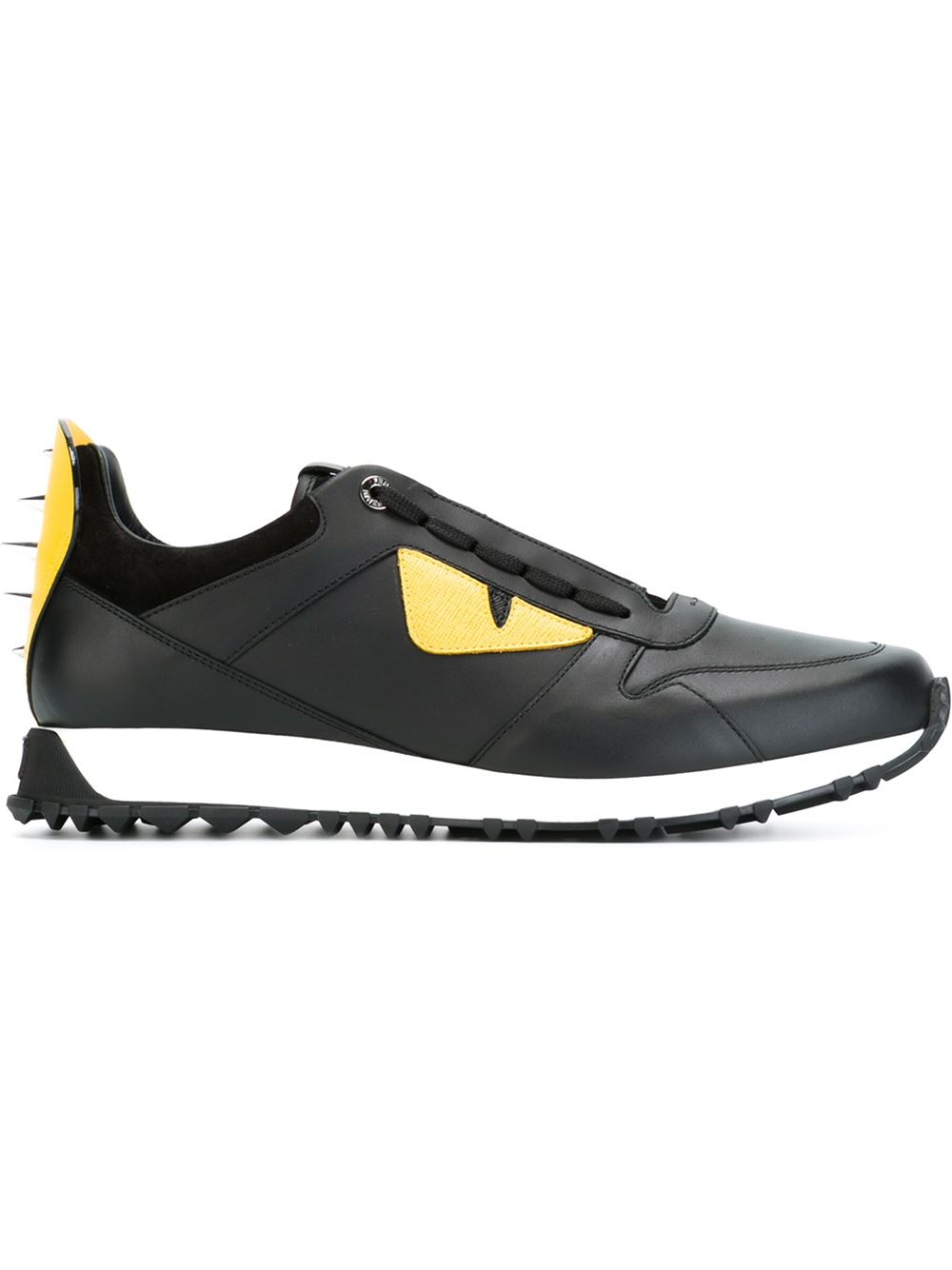 fendi bag bugs sneakers in yellow for black lyst