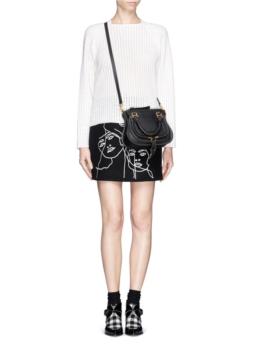 0af2c320e6b Chloé 'baby Marcie' Mini Leather Bag in Black - Lyst