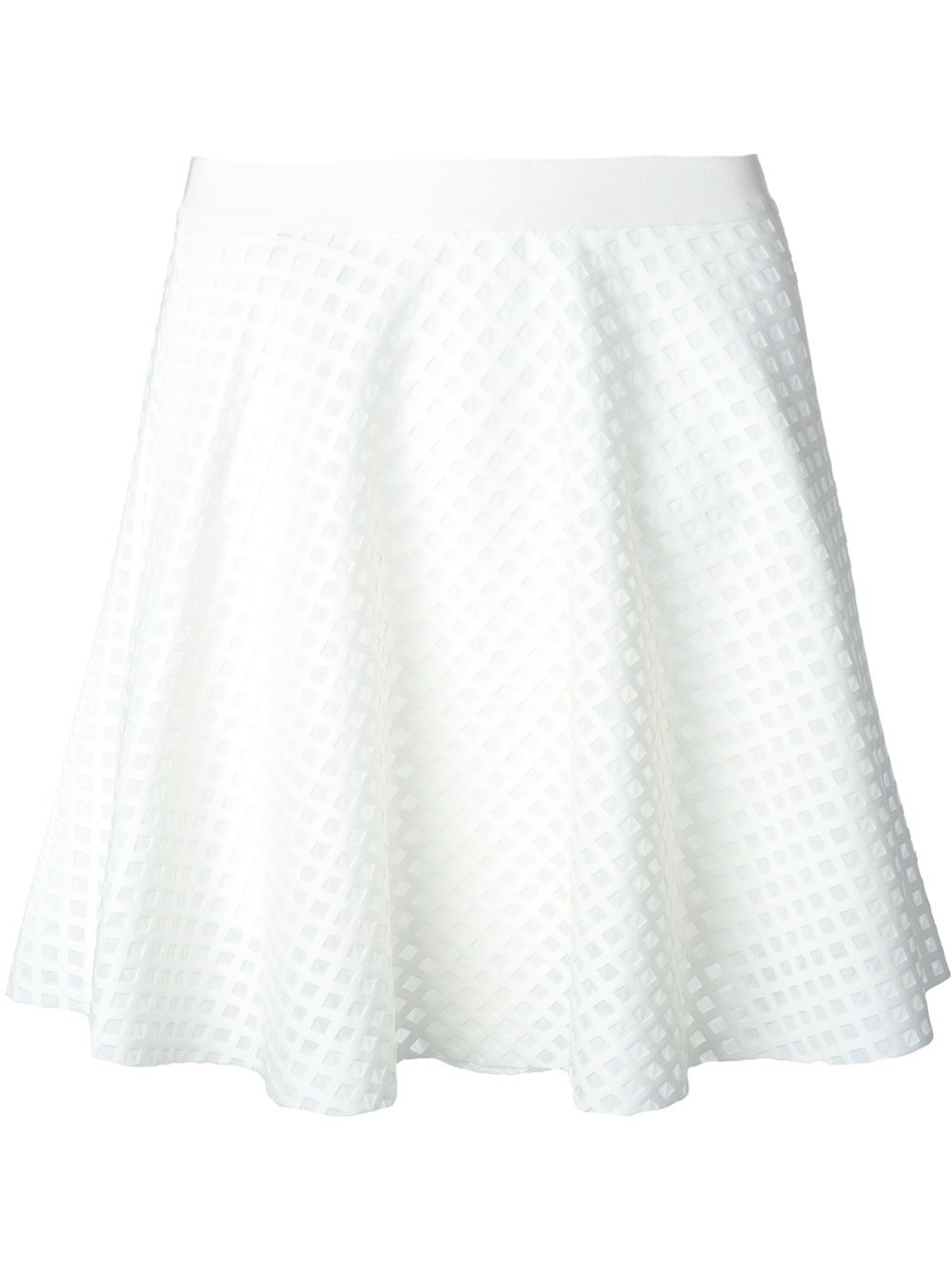 e7849a263 Lyst - Roberto Collina Textured Skirt in White
