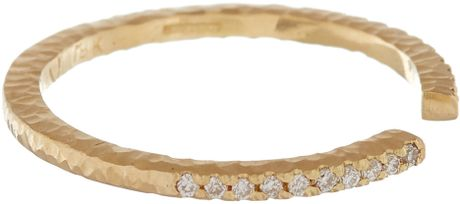 Nak armstrong gold white diamond ring lyst for Nak armstrong wedding ring