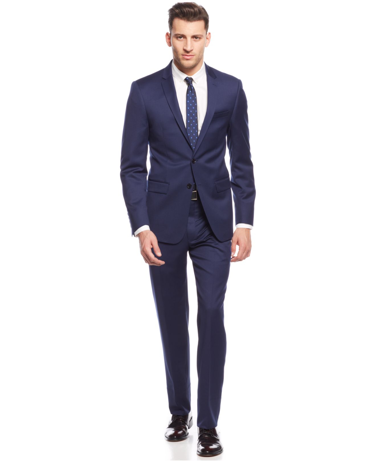 Mens Navy Slim Fit Suit Dress Yy