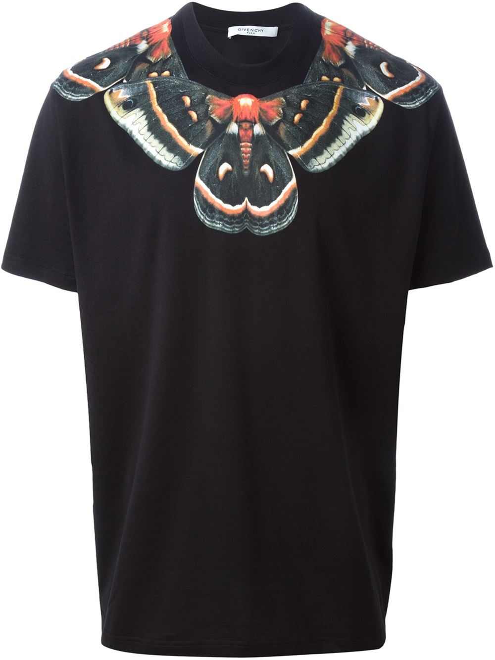 Lyst givenchy moth print t shirt in black for men for Givenchy t shirt man