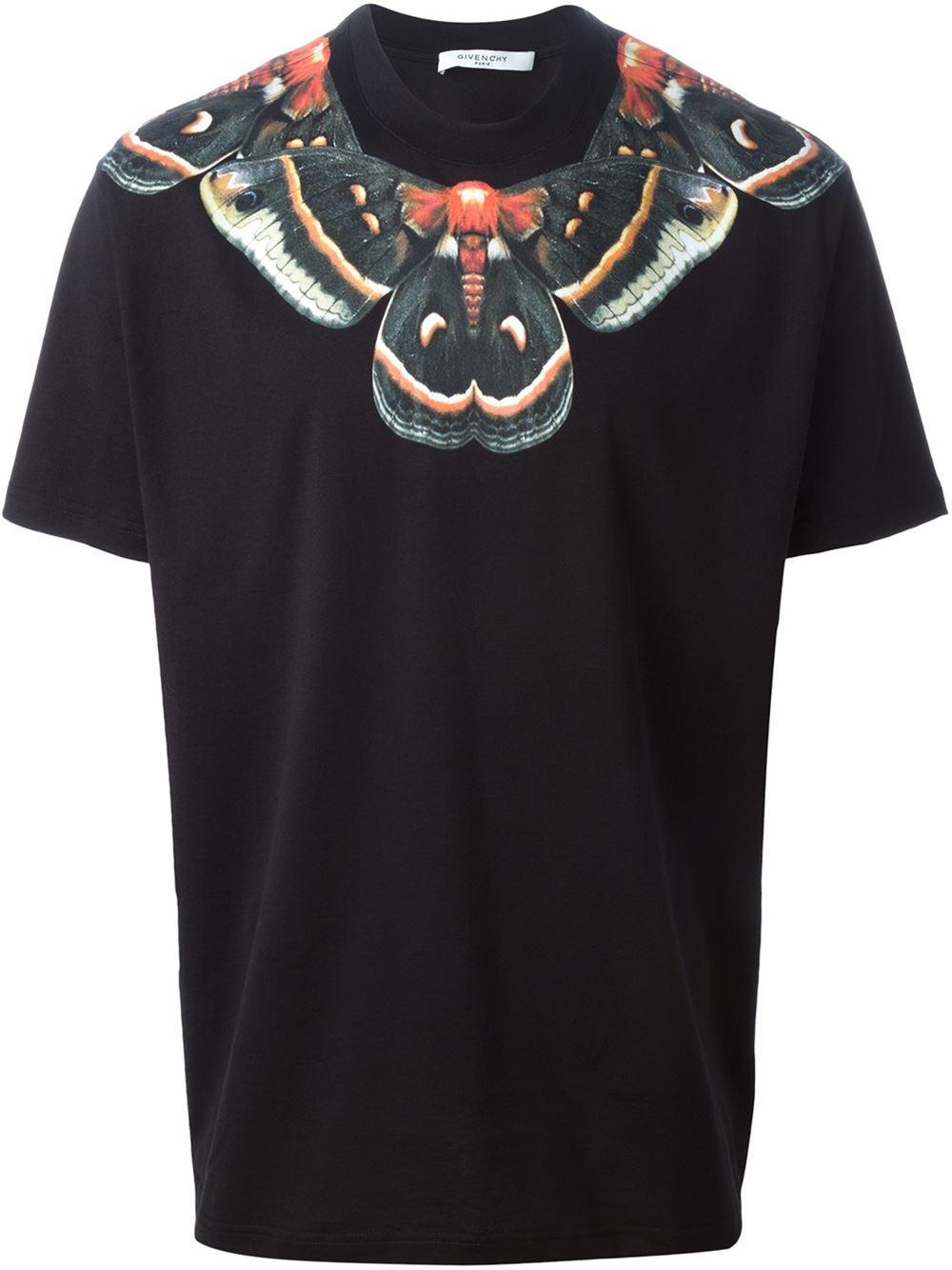 lyst givenchy moth print t shirt in black for men. Black Bedroom Furniture Sets. Home Design Ideas
