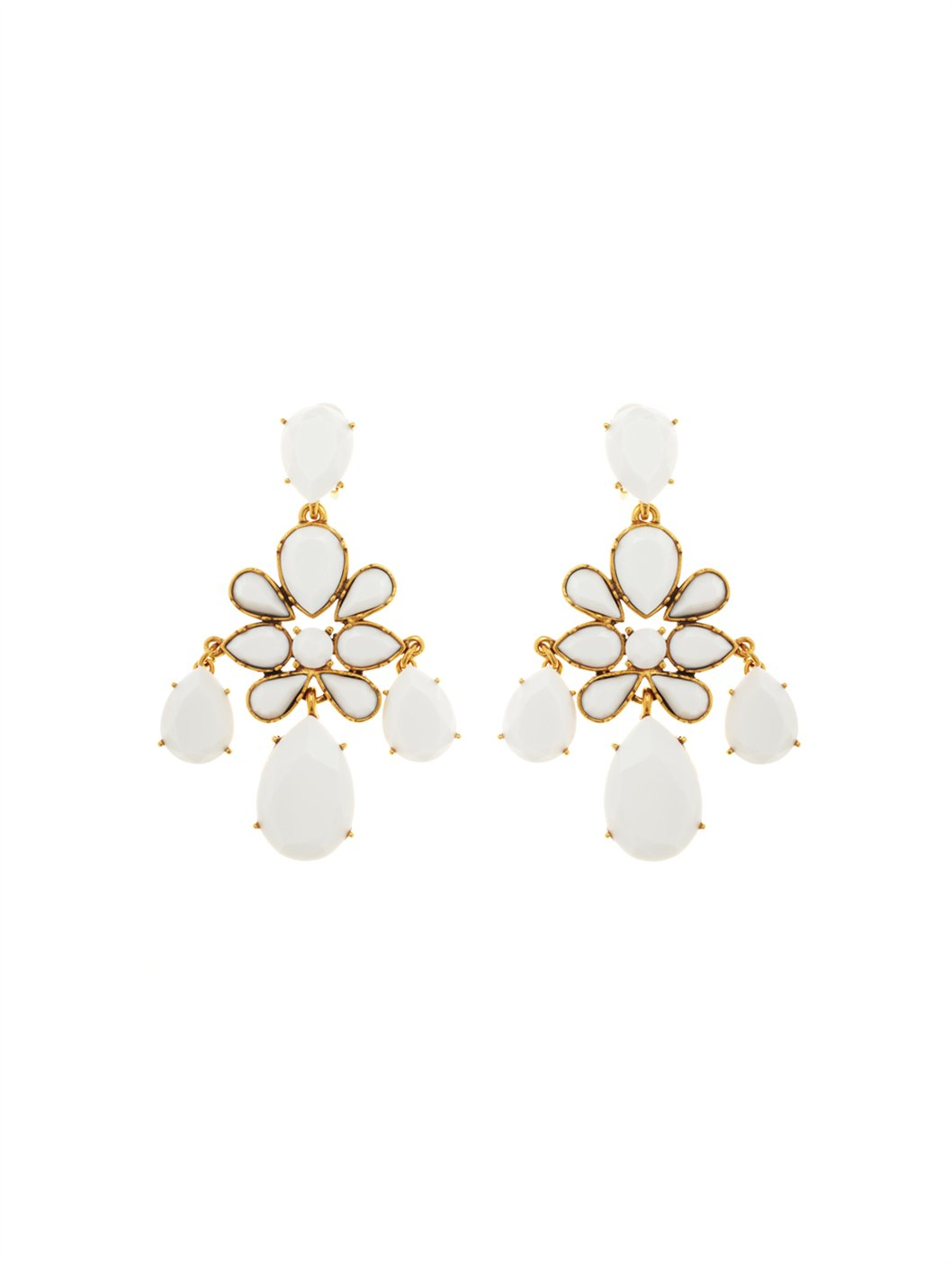 Oscar de la renta iconic chandelier earring in natural lyst gallery arubaitofo Images