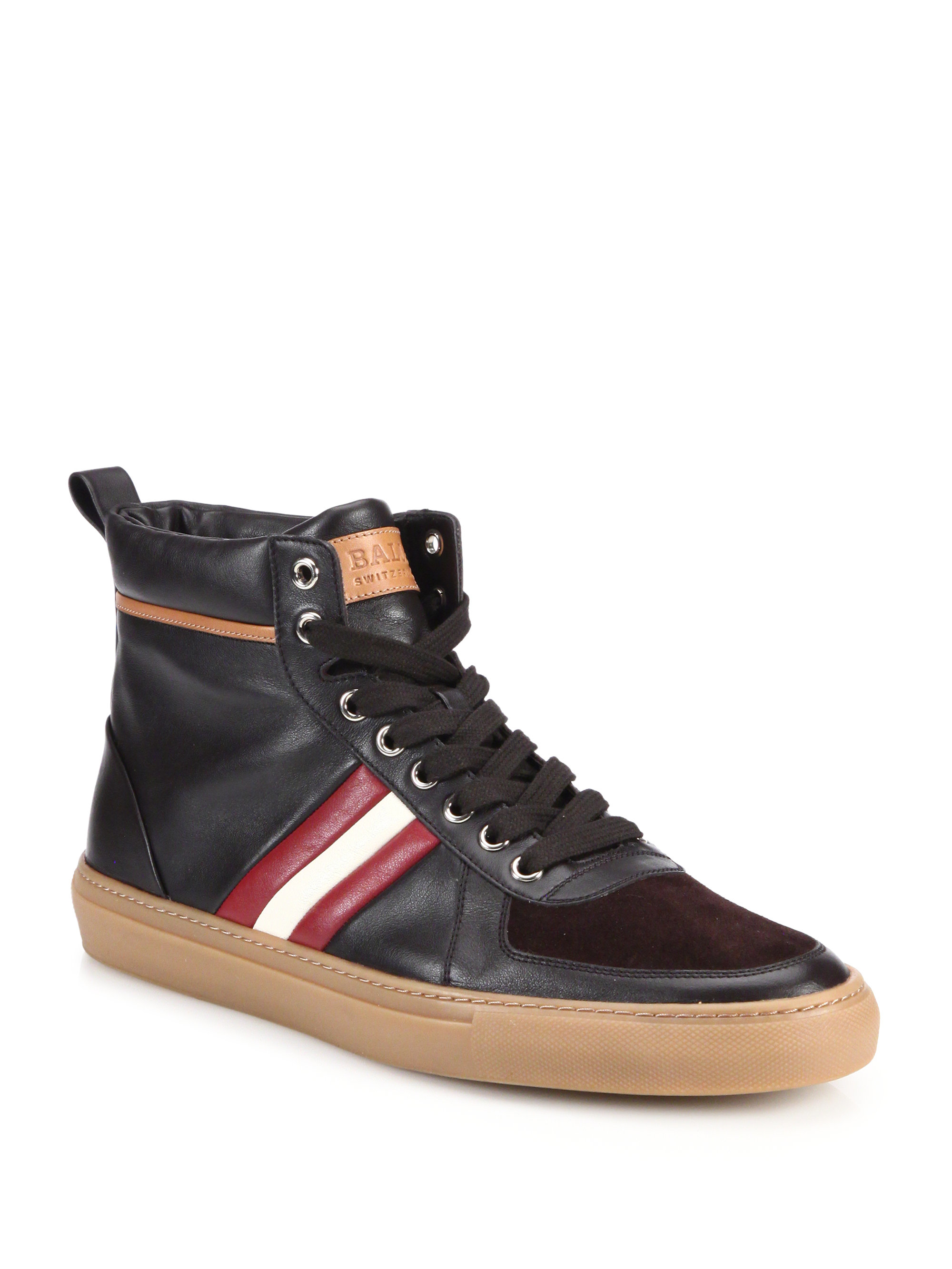 Bally Hervey Leather High Top Sneakers In Brown For Men Lyst