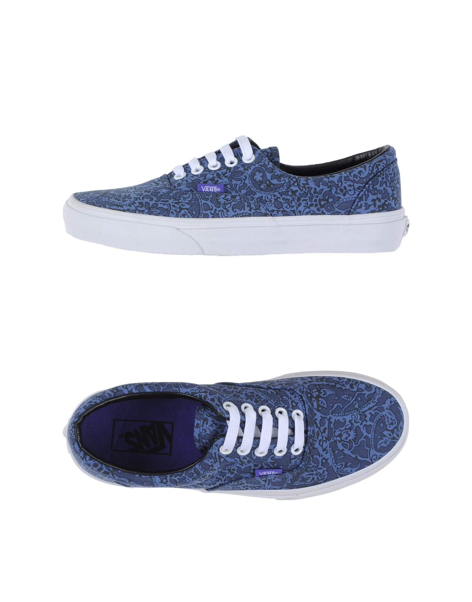 lyst vans low tops trainers in blue. Black Bedroom Furniture Sets. Home Design Ideas