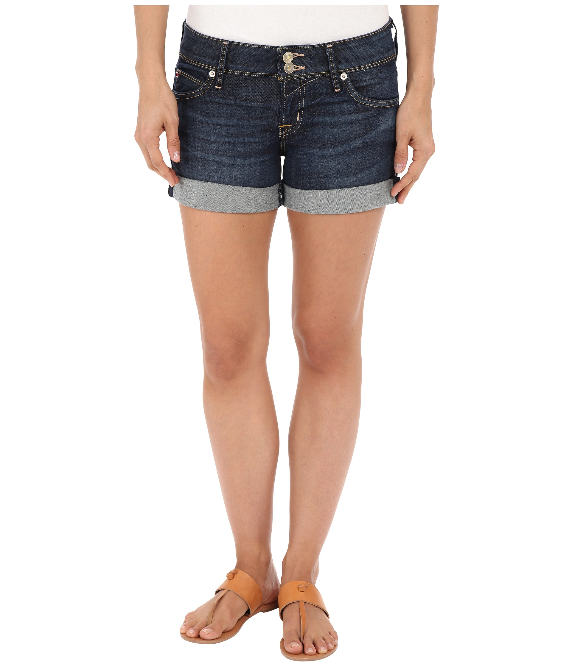 dcea54a54c Lyst - Hudson Jeans Croxley Shorts In Stella in Blue