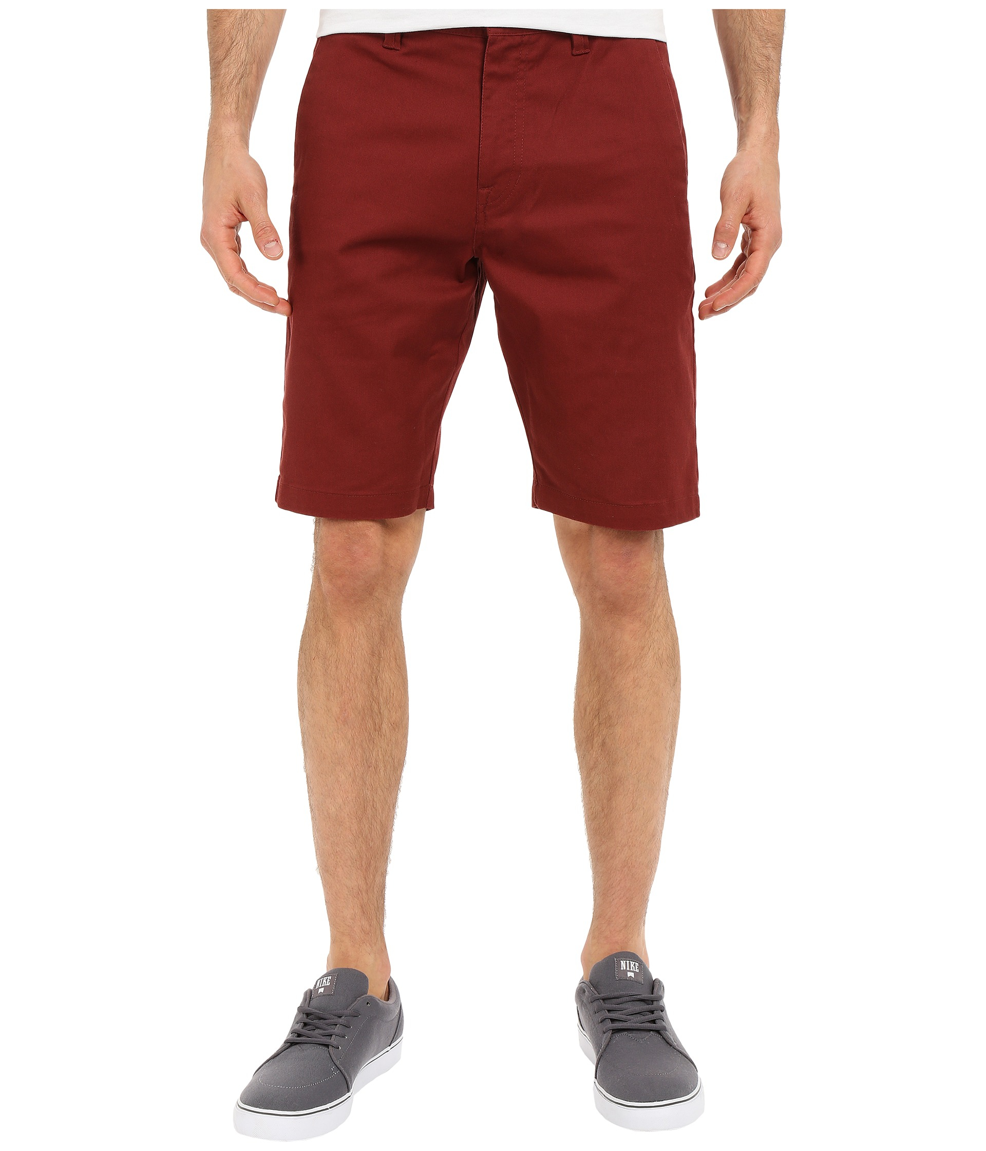 Volcom Frickin Modern Stretch Chino Shorts in Red for Men | Lyst