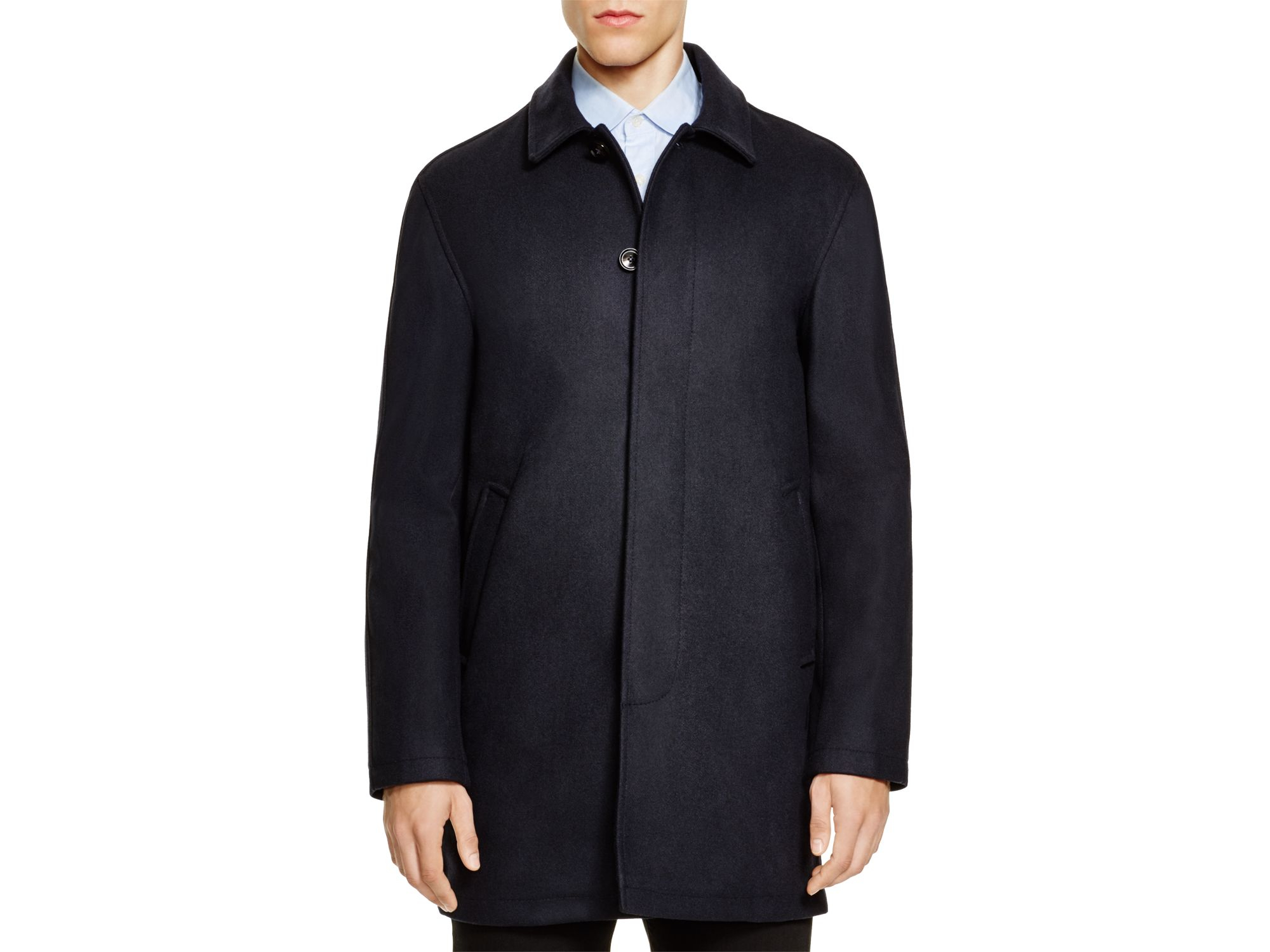 Hardy amies Wool Blend Car Coat - Bloomingdale's Exclusive in Blue ...