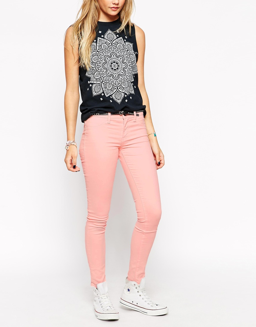 Gallery - Wildfox Marianne Light Pink Skinny Jeans In Pink Lyst