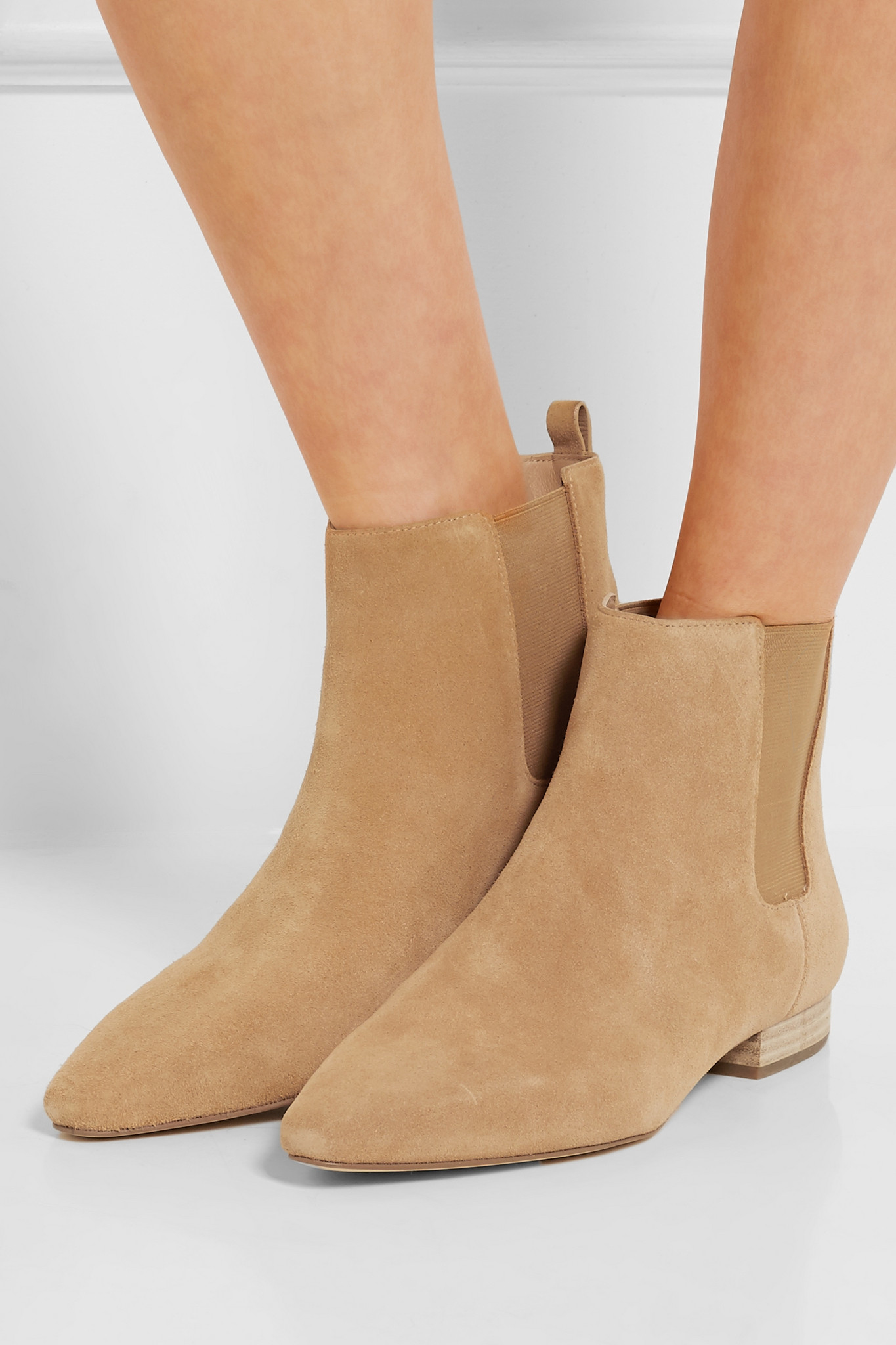 e70651ae64ee Lyst - MICHAEL Michael Kors - Pierce Suede Ankle Boots - Tan in Brown