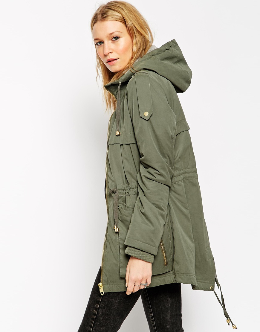 5b21a5ca06cf3 Lyst - Asos Summer Ultimate Parka in Natural