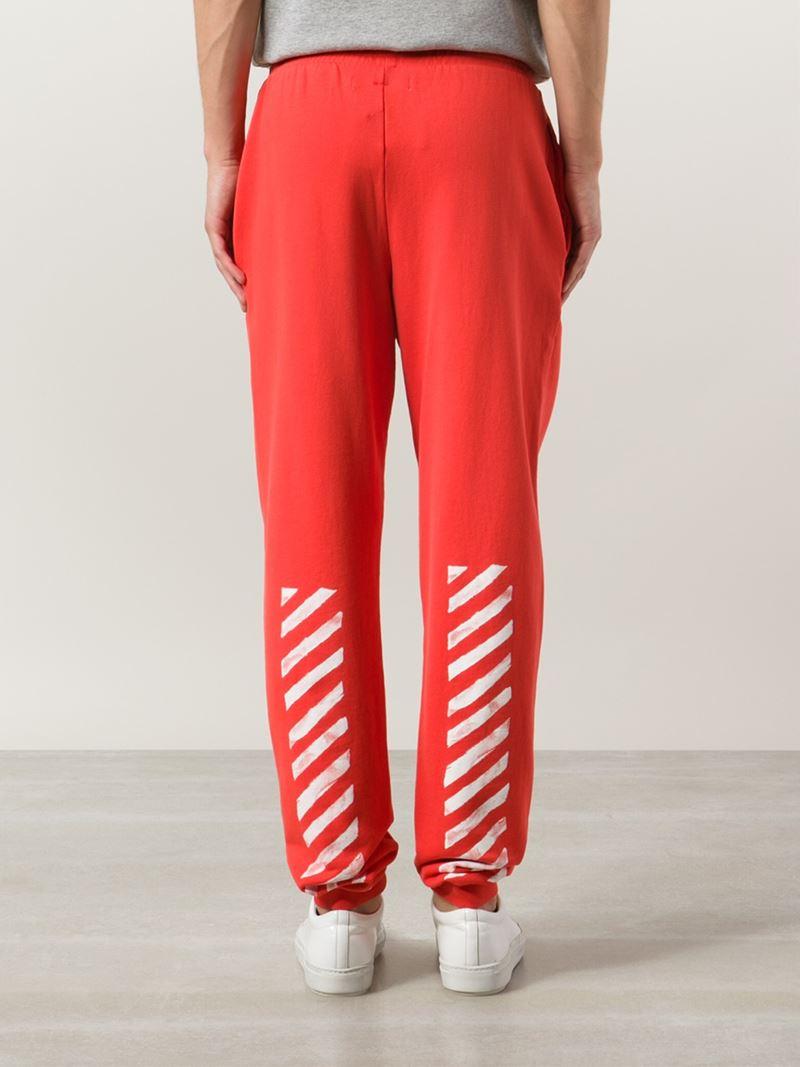 697ea6b2 Off-White c/o Virgil Abloh Track Pants in Red for Men - Lyst