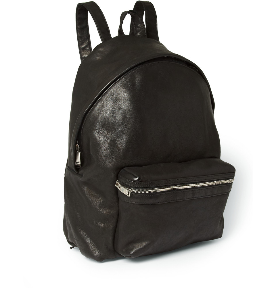 Saint laurent Leather Backpack in Black for Men | Lyst