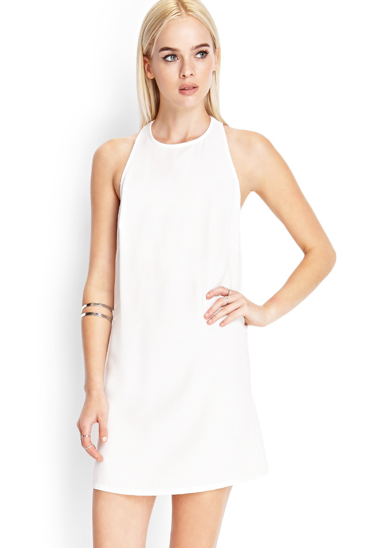 333e85bbcb1a White Shift Dress Forever 21