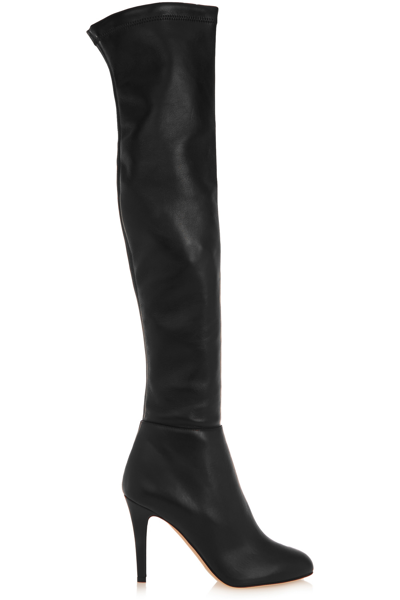 Jimmy choo Toni Stretch-leather Over-the-knee Boots in Black | Lyst