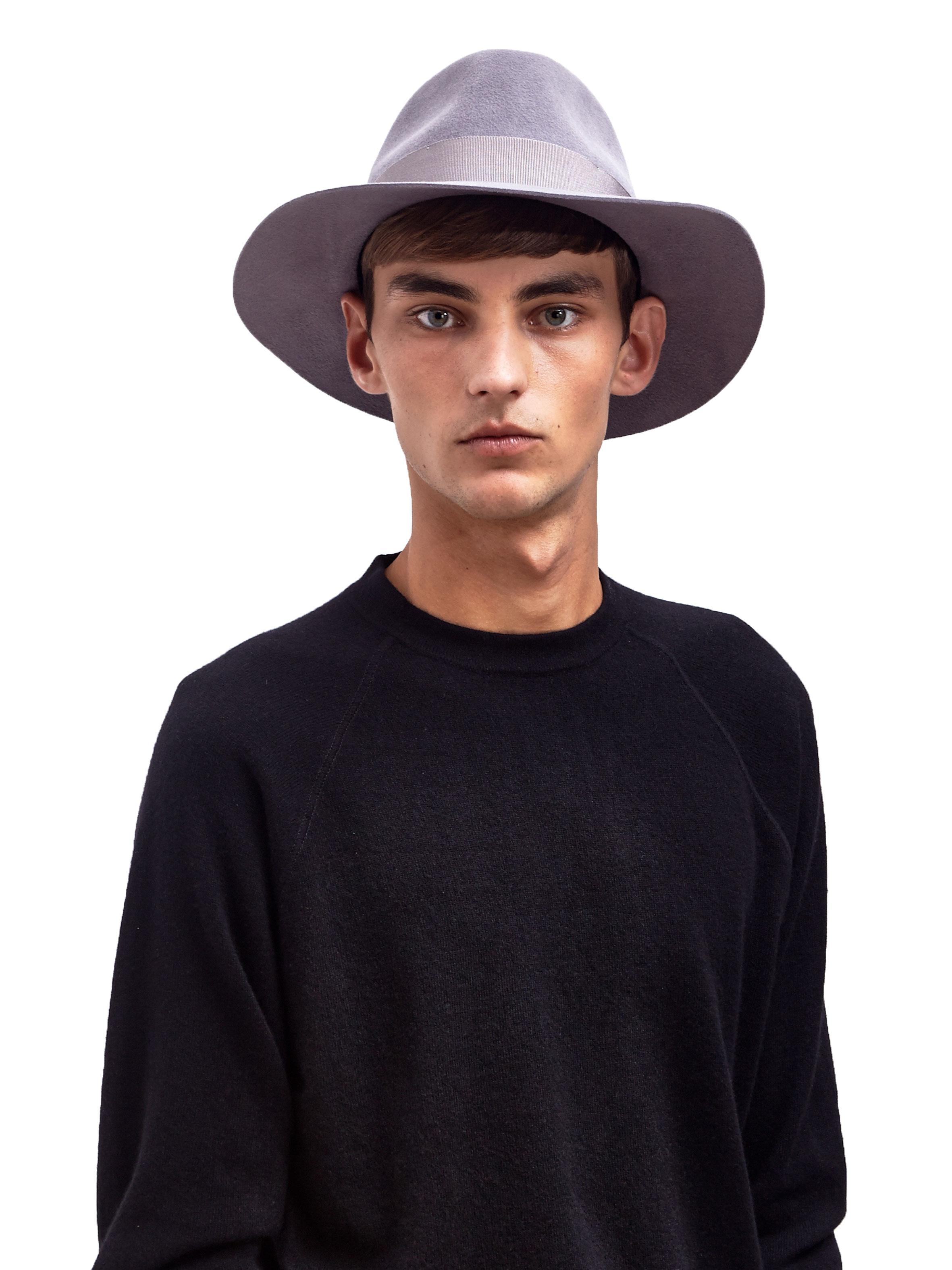 Lyst - Larose Mens Rabbit Felt Fedora Hat in Gray for Men 095f142aca8