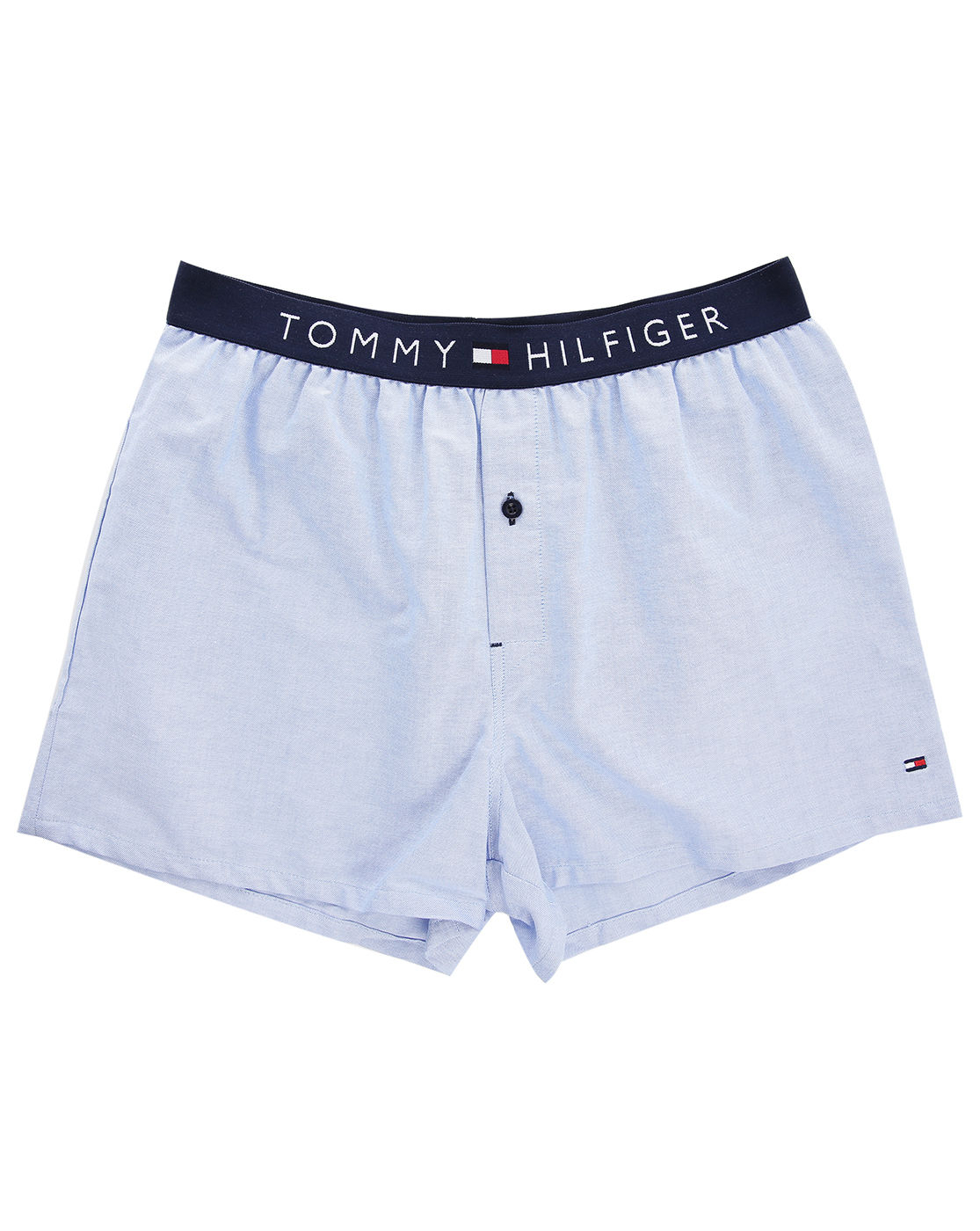 tommy hilfiger blue oxford boxer shorts in blue for men lyst