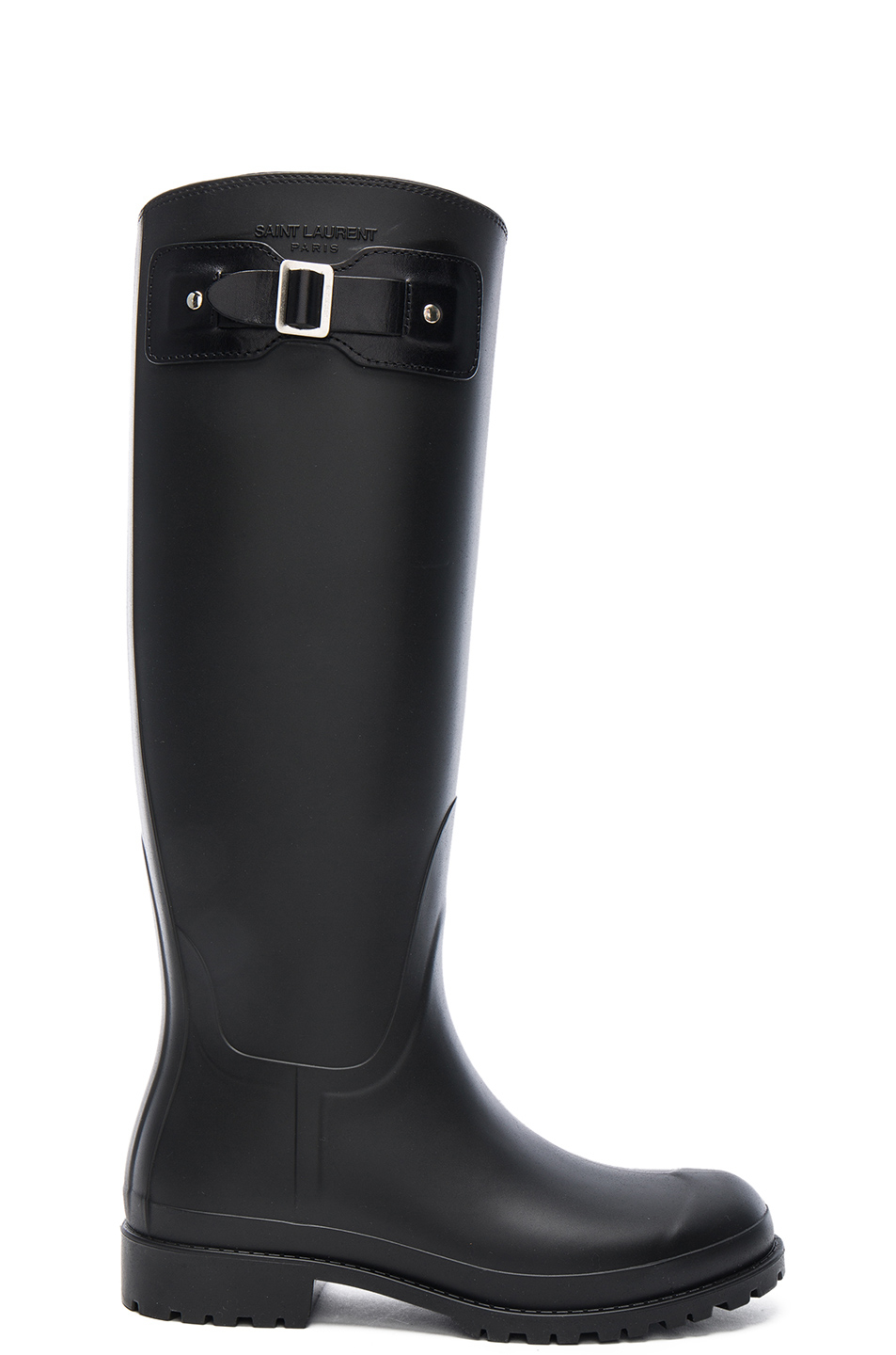 laurent rubber festival boots in black lyst
