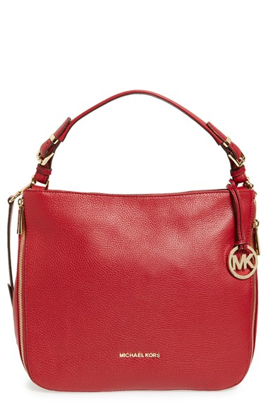 bd7fe1e325d35f Lyst - MICHAEL Michael Kors 'large Essex' Leather Shoulder Bag in Red