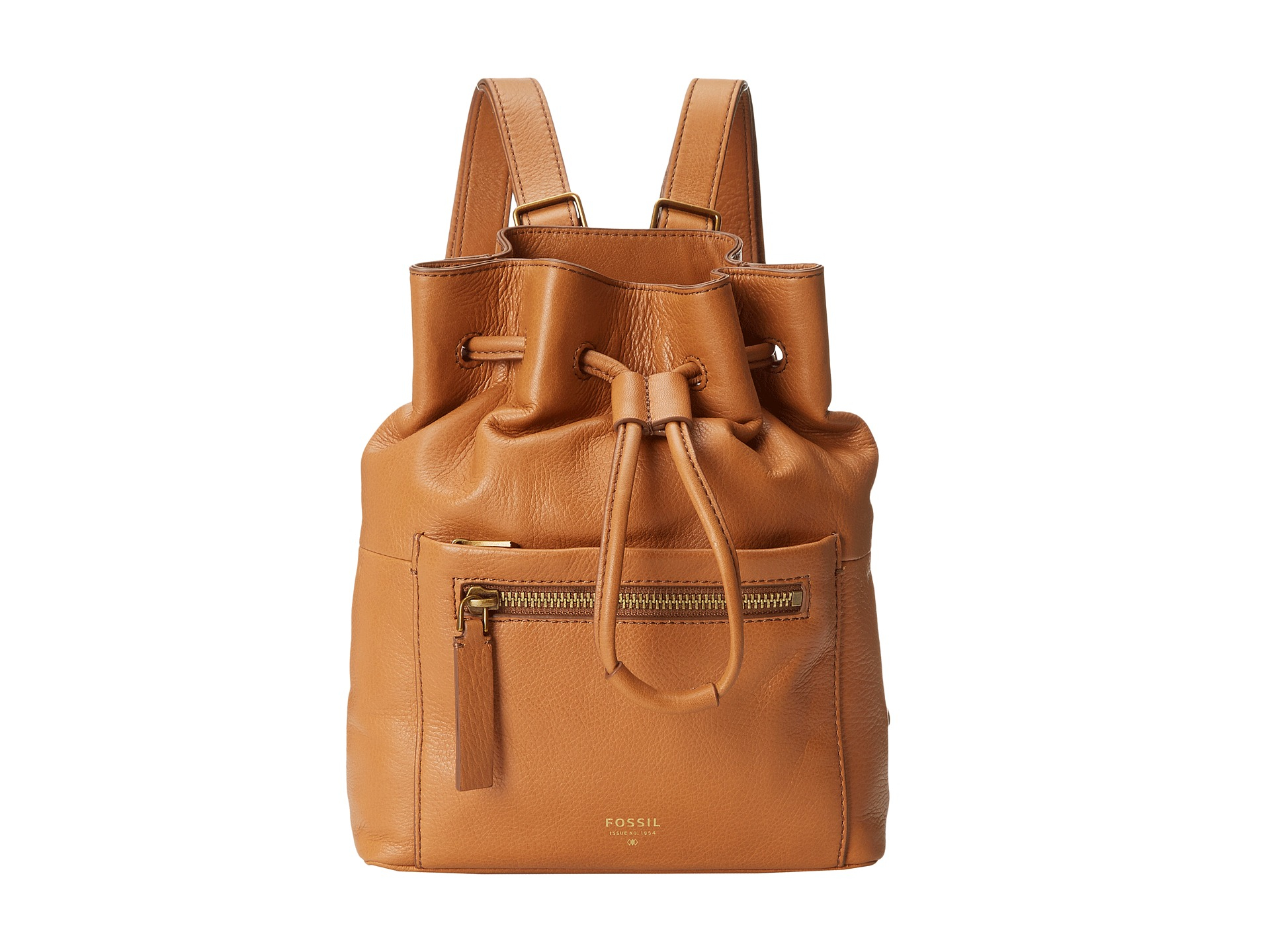 Fossil Vickery Drawstring Backpack in Brown | Lyst