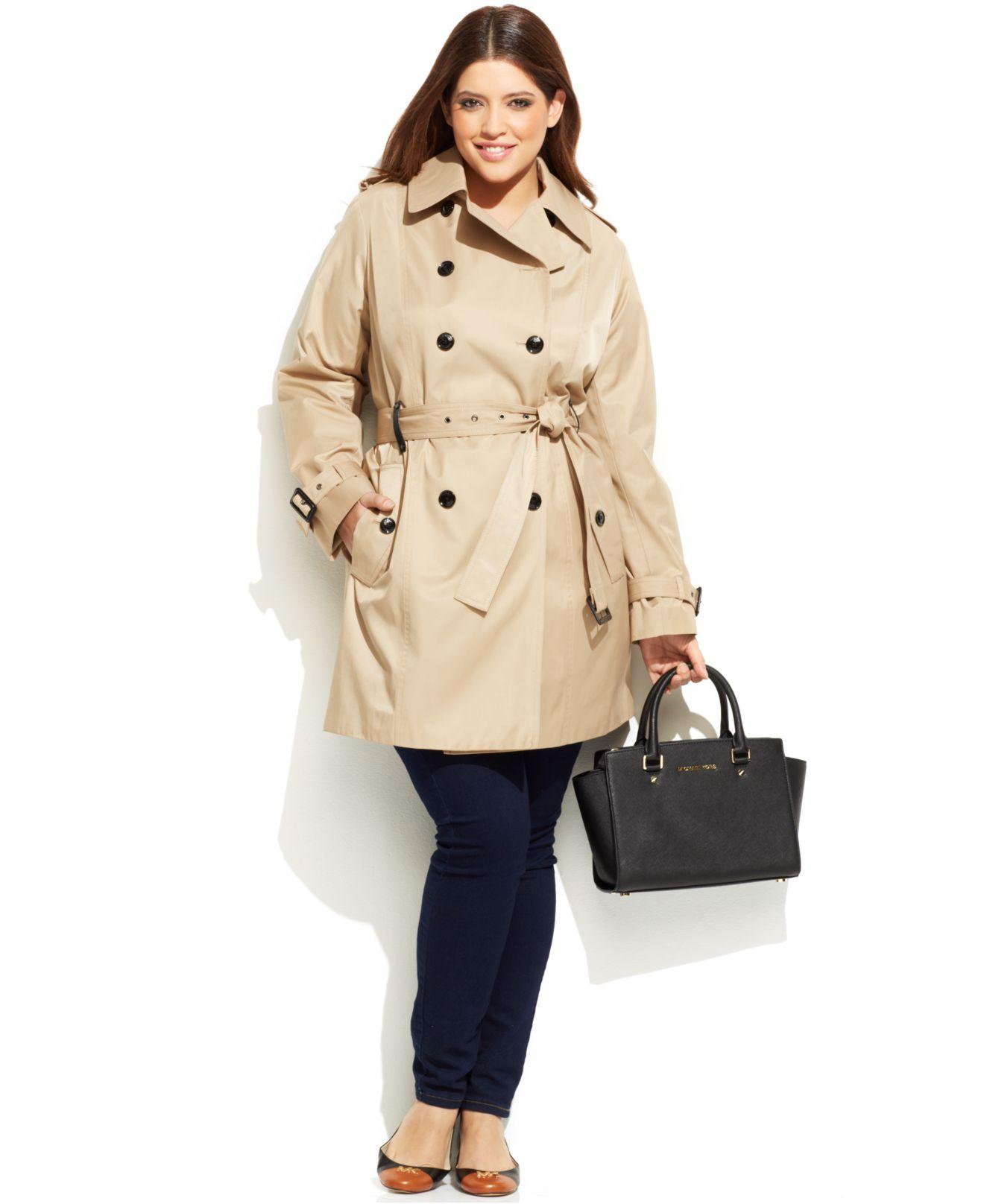 d5eeb4f3f0d Lyst Dkny Plus Size Maxi Trench Coat In Black