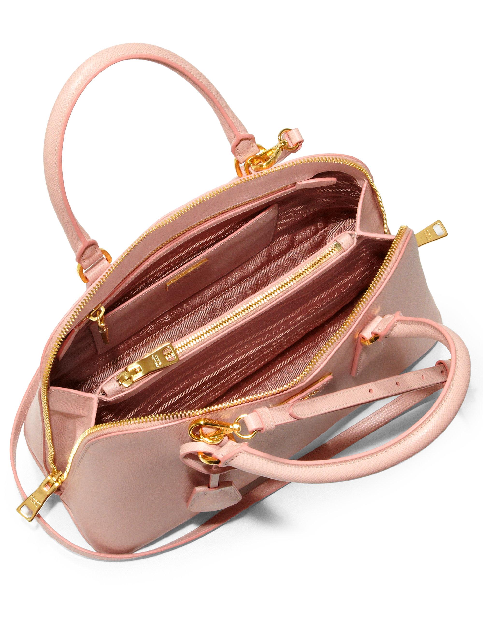 prada gold wallet - Prada Saffiano Lux Small Promenade in Pink (ORCHID) | Lyst