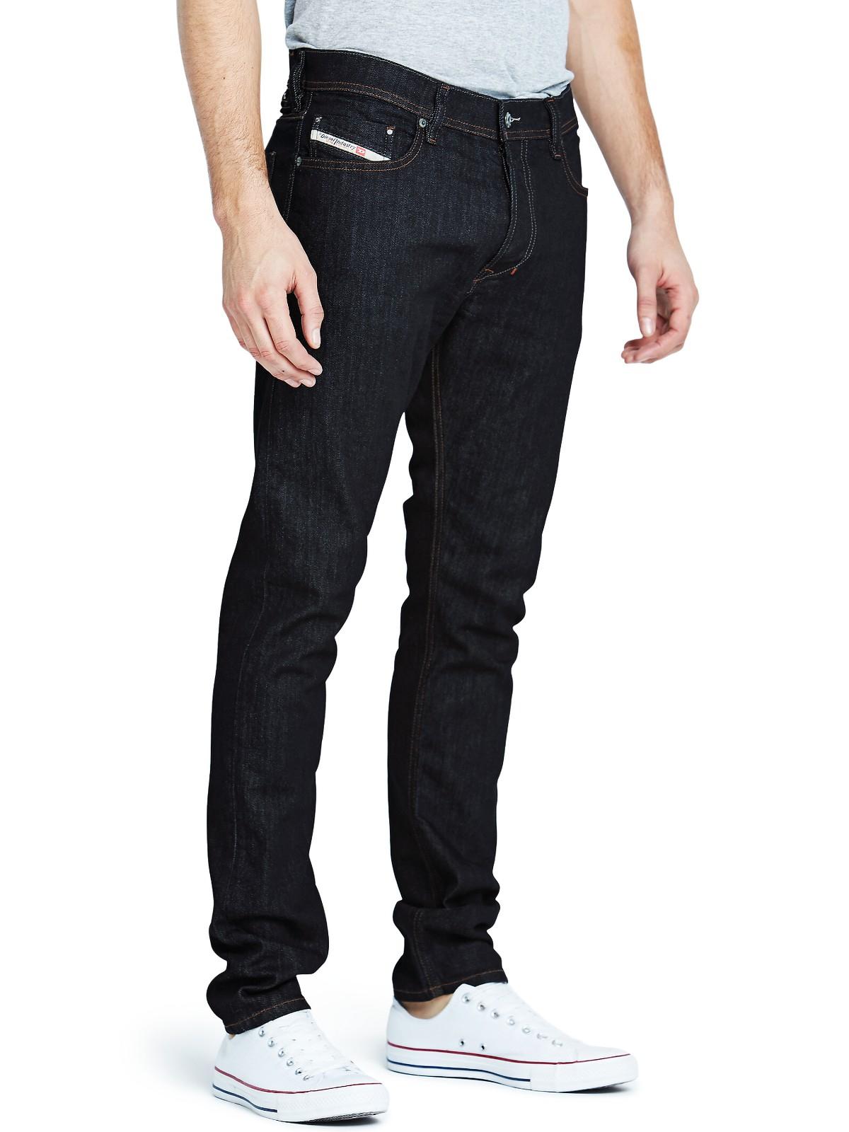 diesel mens tepphar 604b slim tapered fit jeans in blue for men raw lyst. Black Bedroom Furniture Sets. Home Design Ideas
