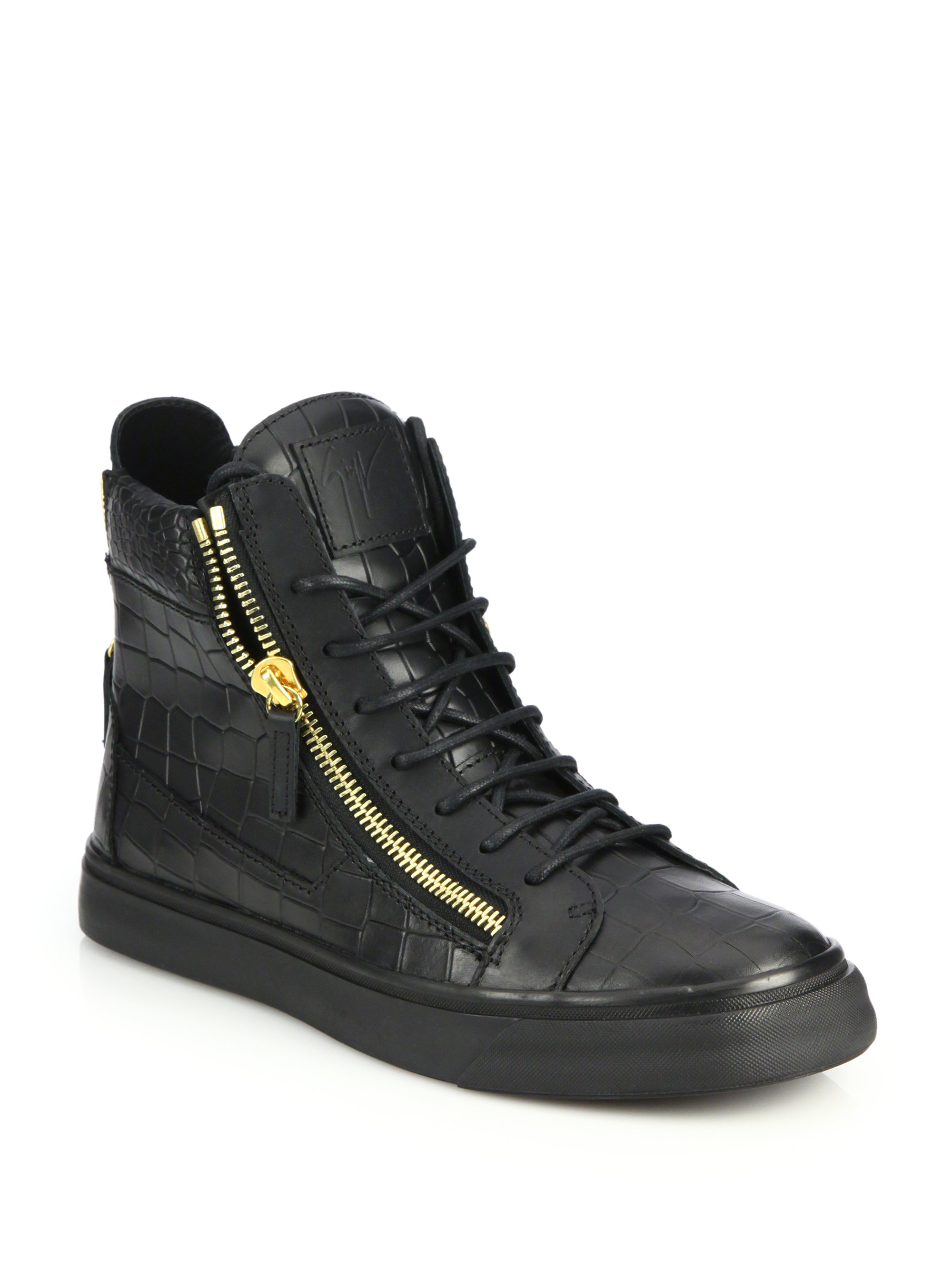 Giuseppe Zanotti Embossed High-Top Sneakers discount free shipping discount collections cheap price outlet sale cheap sale marketable cheap in China cyQJrzm2p