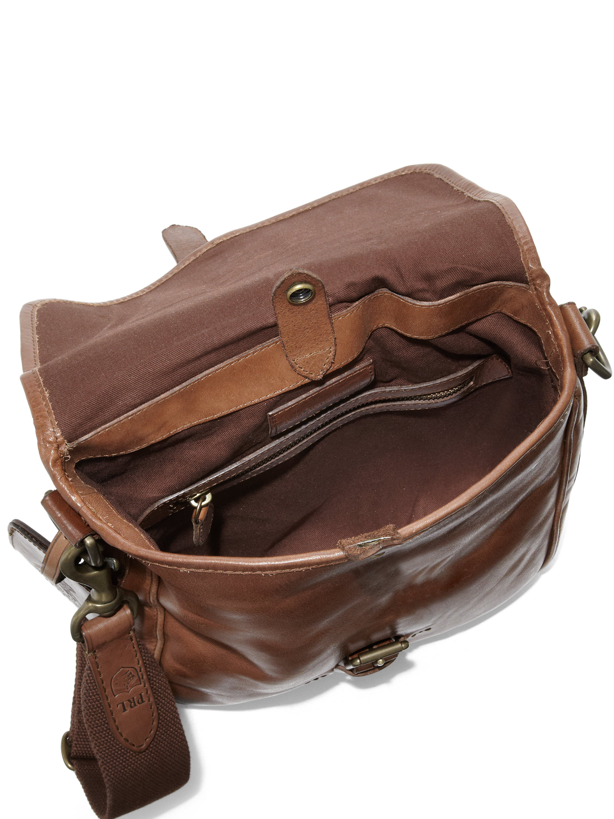 19e64cf4dff0 Lyst - Polo Ralph Lauren Leather Camera Bag in Brown for Men