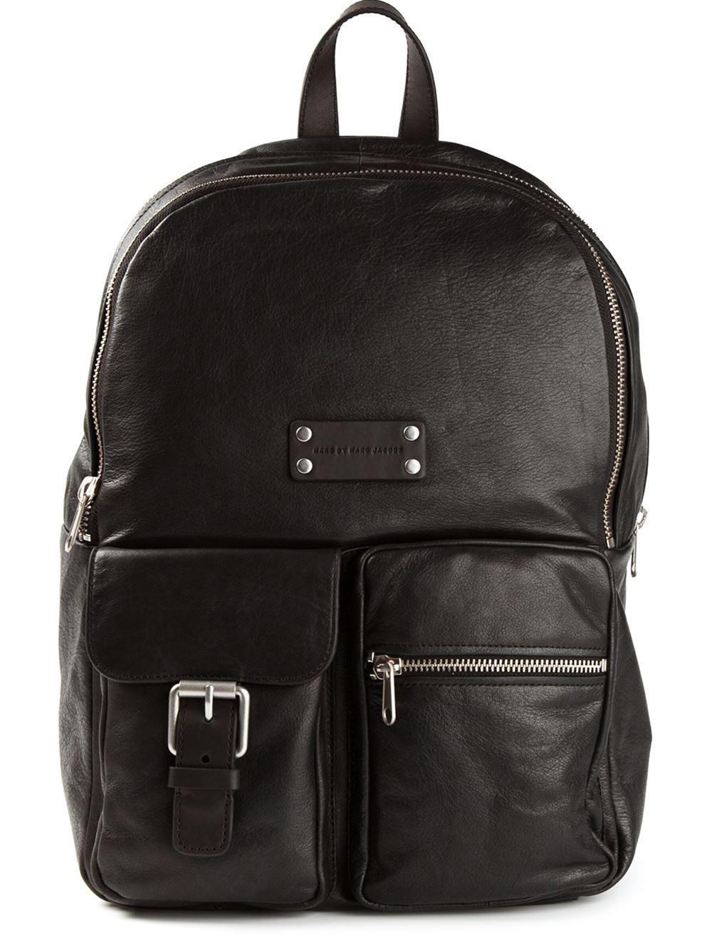 marc by marc jacobs super trooper backpack in black lyst. Black Bedroom Furniture Sets. Home Design Ideas