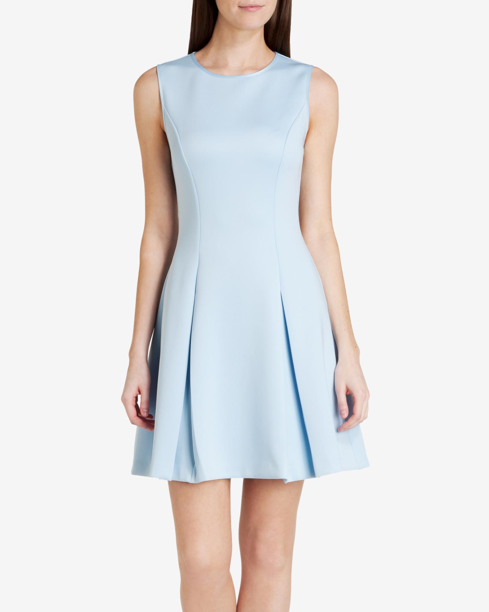Lyst Ted Baker Sleeveless Skater Dress in Blue