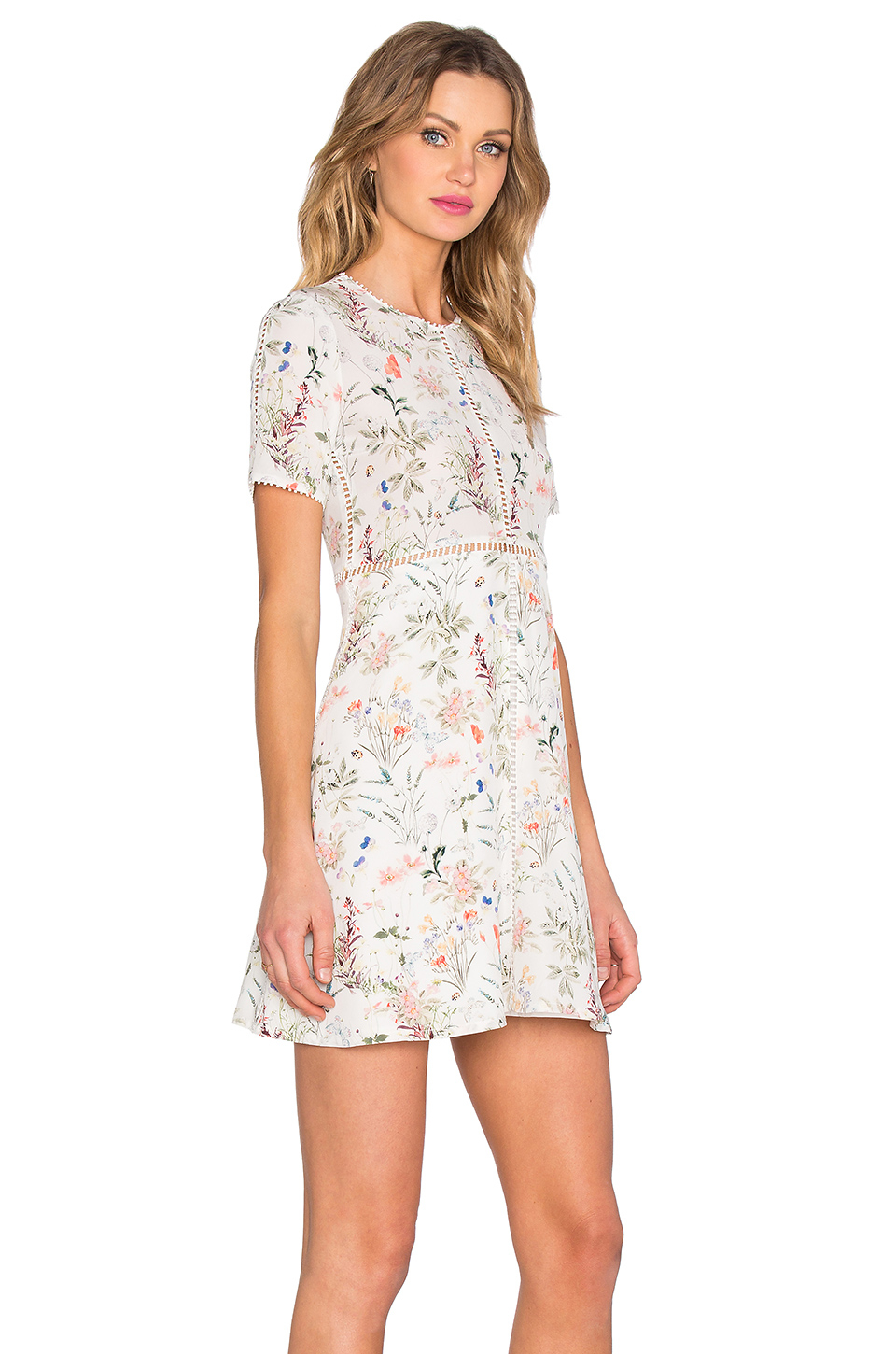 The kooples Floral Dress in White | Lyst