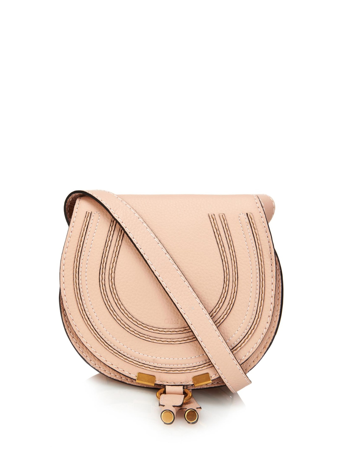 chlo marcie small cross body bag in pink lyst. Black Bedroom Furniture Sets. Home Design Ideas