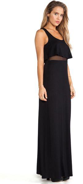 Bcbgmaxazria Bcbgeneration Ruffle Top Maxi Dress In Black
