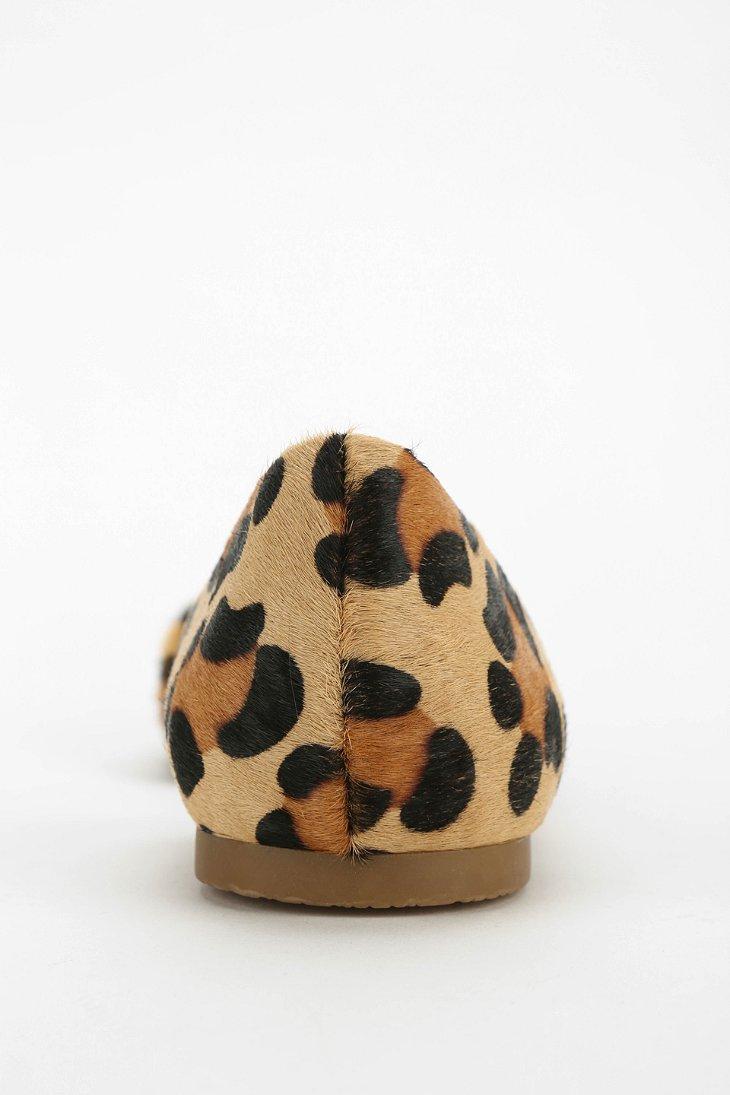 bd6f6abc7254 Steve Madden Elusion Leopard Print Dorsay Flat - Lyst