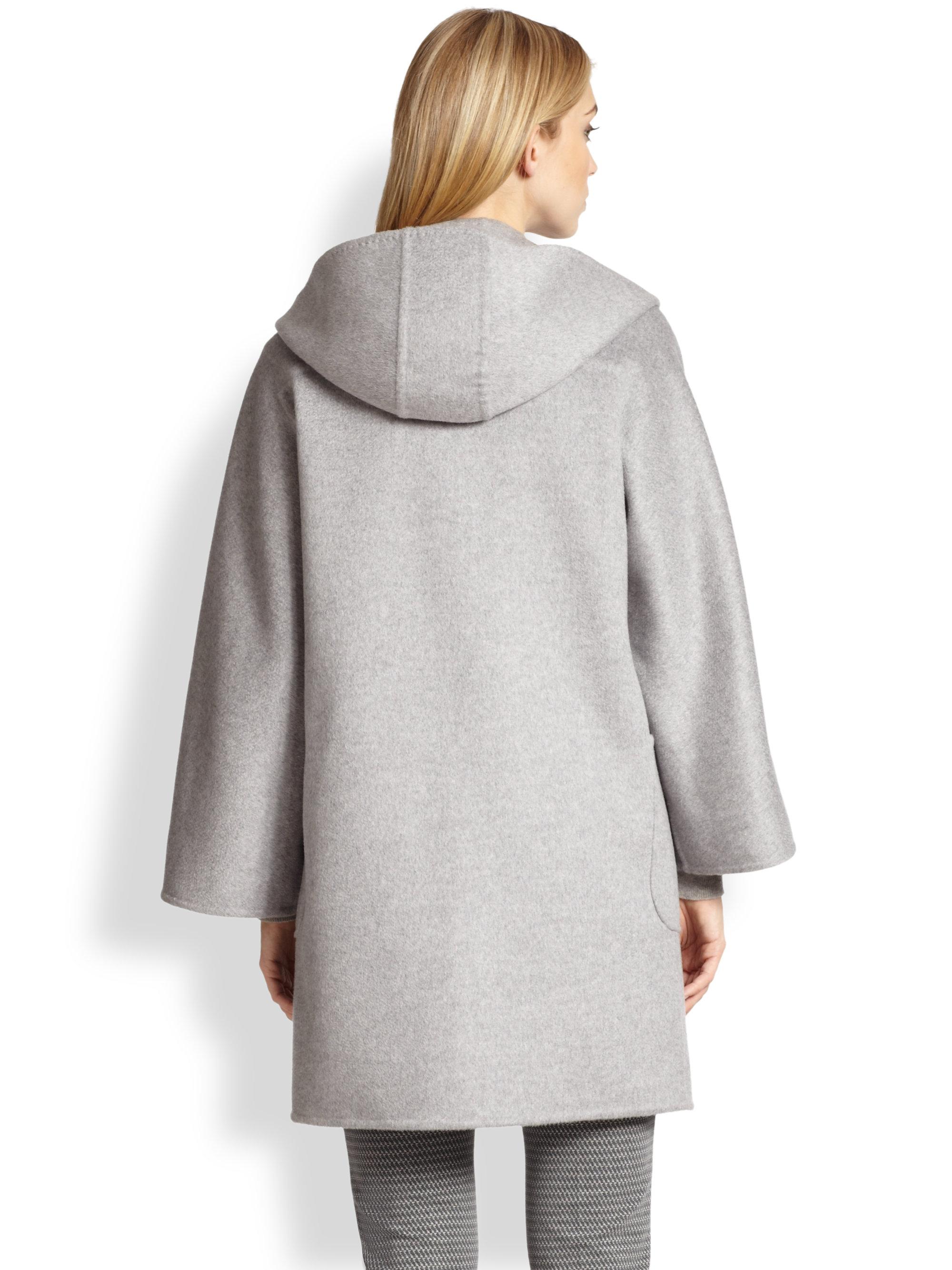 Max mara Avorio Cashmere Duffle Coat in Metallic | Lyst
